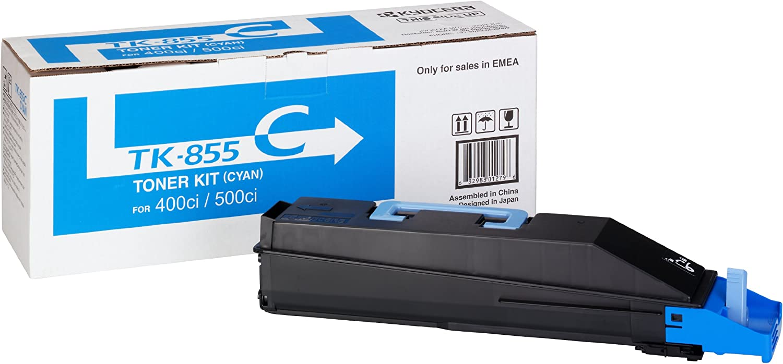 Kyocera 1t02h7ceu0 Tk 855c Tonerkartusche 18 000 Seiten Cyan Bürobedarf Schreibwaren