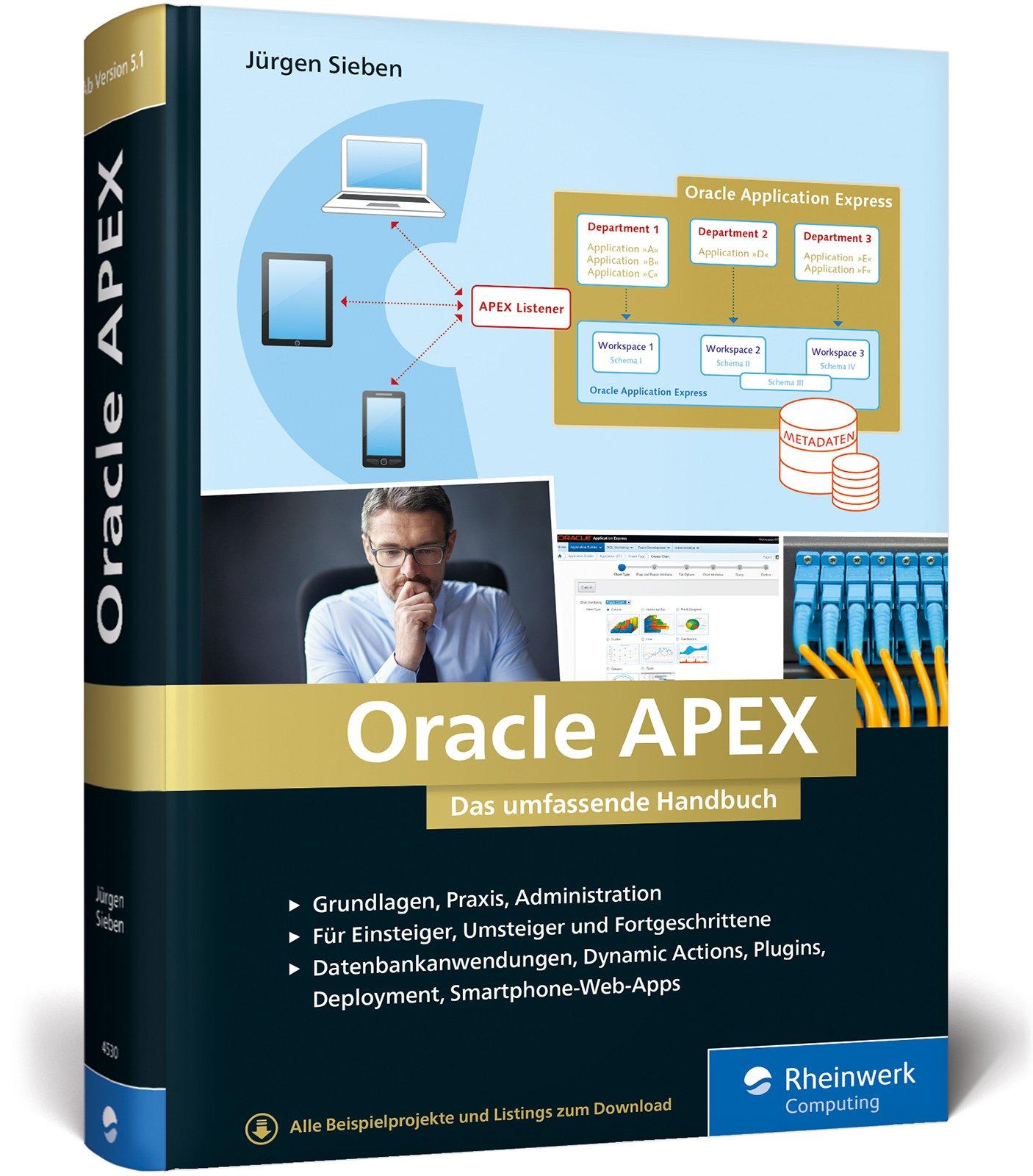 Oracle APEX: Das umfassende Handbuch für Entwickler Gebundenes Buch – 29. September 2017 Jürgen Sieben Rheinwerk Computing 3836245302 Informatik