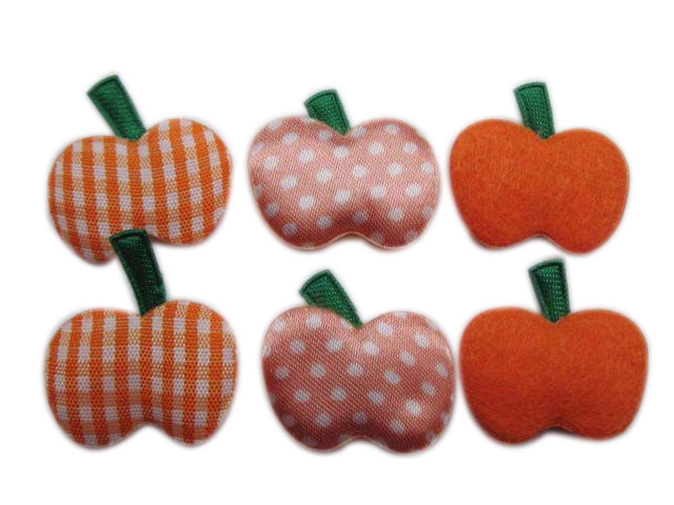 YYCRAFT Pack Of 60 Felt/Satin Pumpkin Applique/Halloween/motif/bows-3 Colors