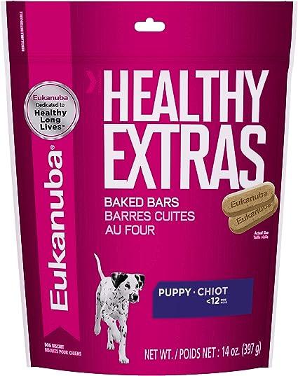 Amazon Com Eukanuba Healthy Extras Puppy Dog Treats 14 Oz Bag Pet Treat Biscuits Pet Supplies