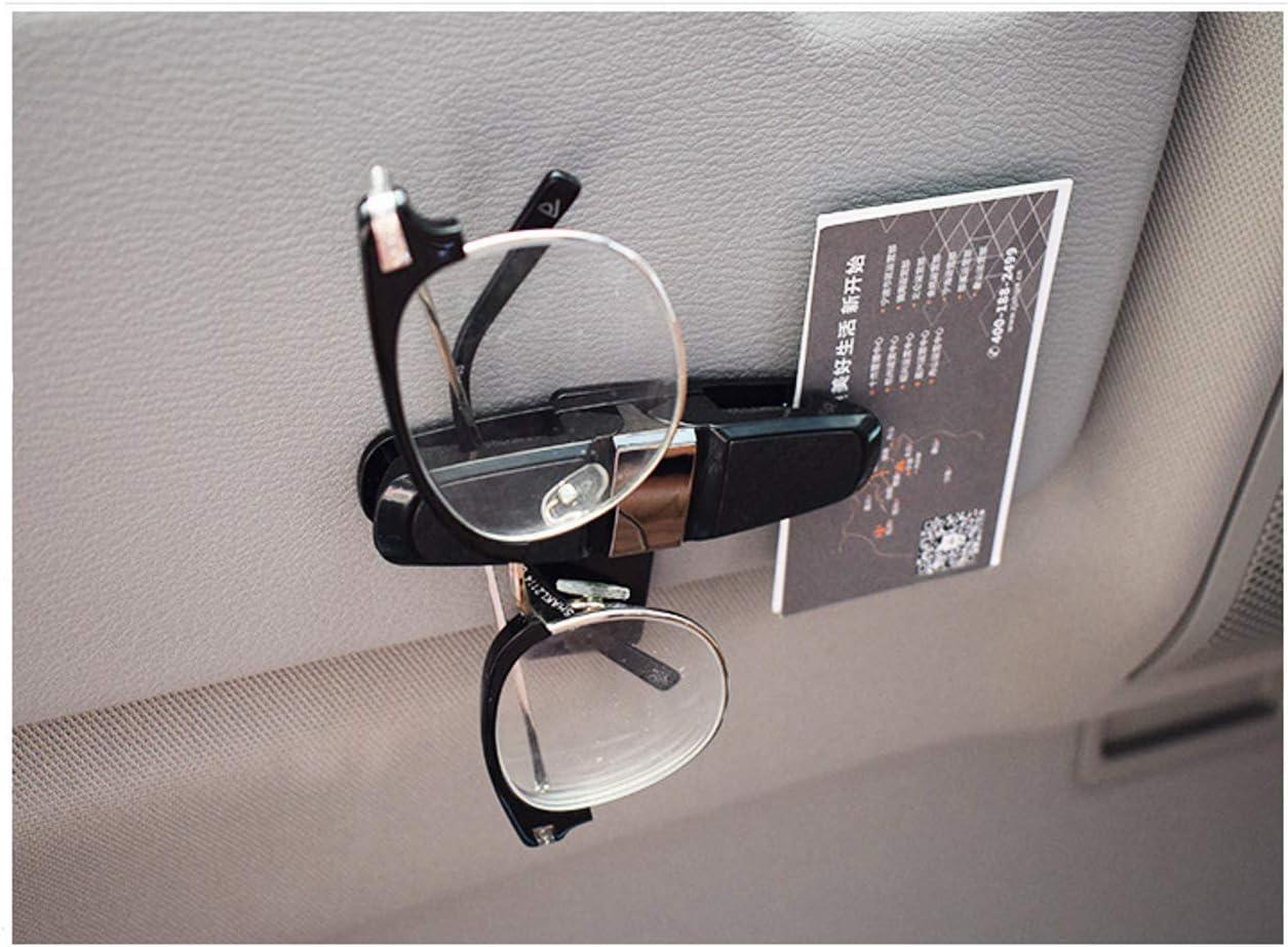 JZK 3 X Nero Rotazione 180 Gradi portaocchiali Auto Porta Occhiali Clip per Occhiali da Sole Clip molletta Biglietti per Auto Parasole