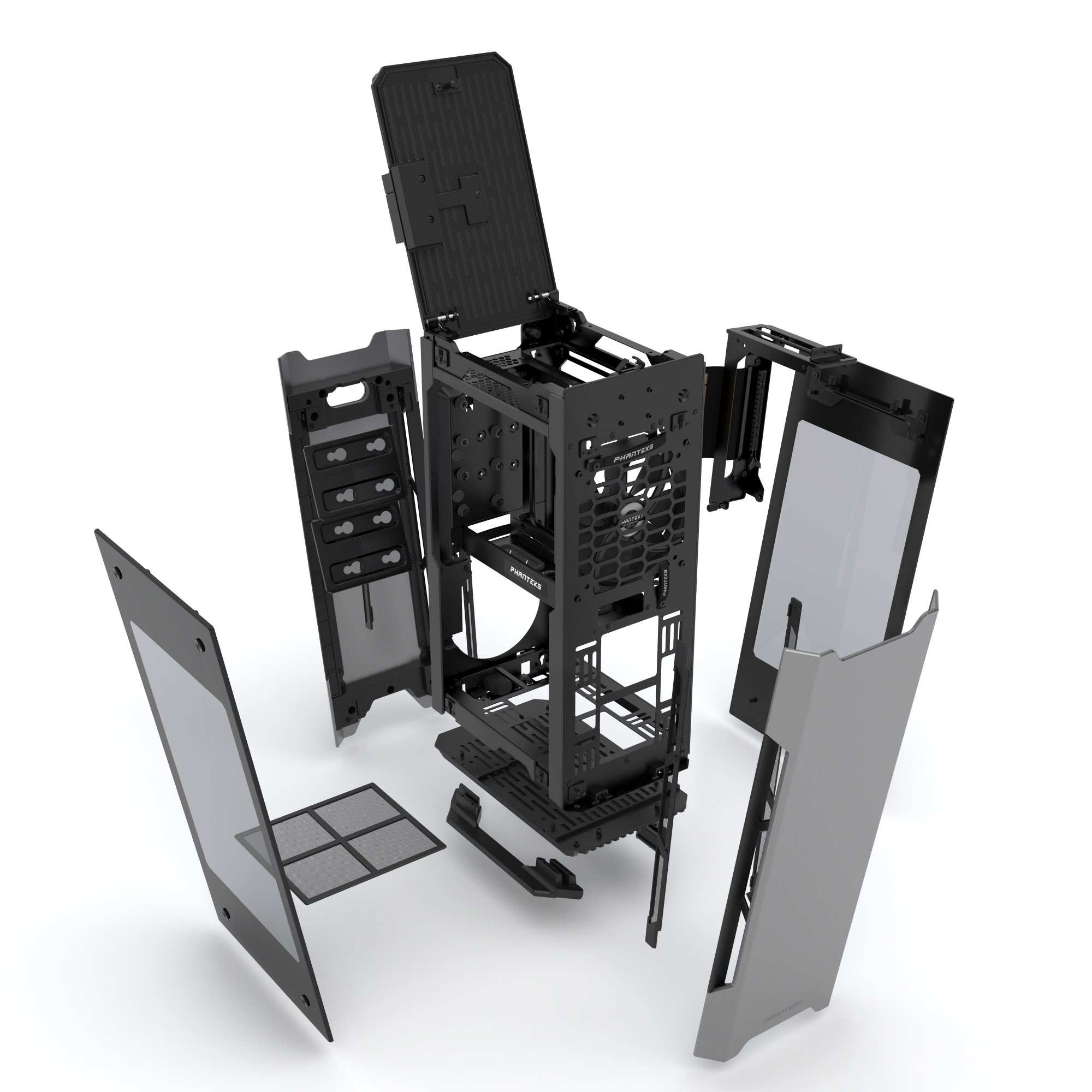 Phanteks PH-ES217E_AG EVOLV SHIFT Mini ITX Dual Tempered Glass for AIO water cooling Anthracite Gray Cases by Phanteks (Image #13)