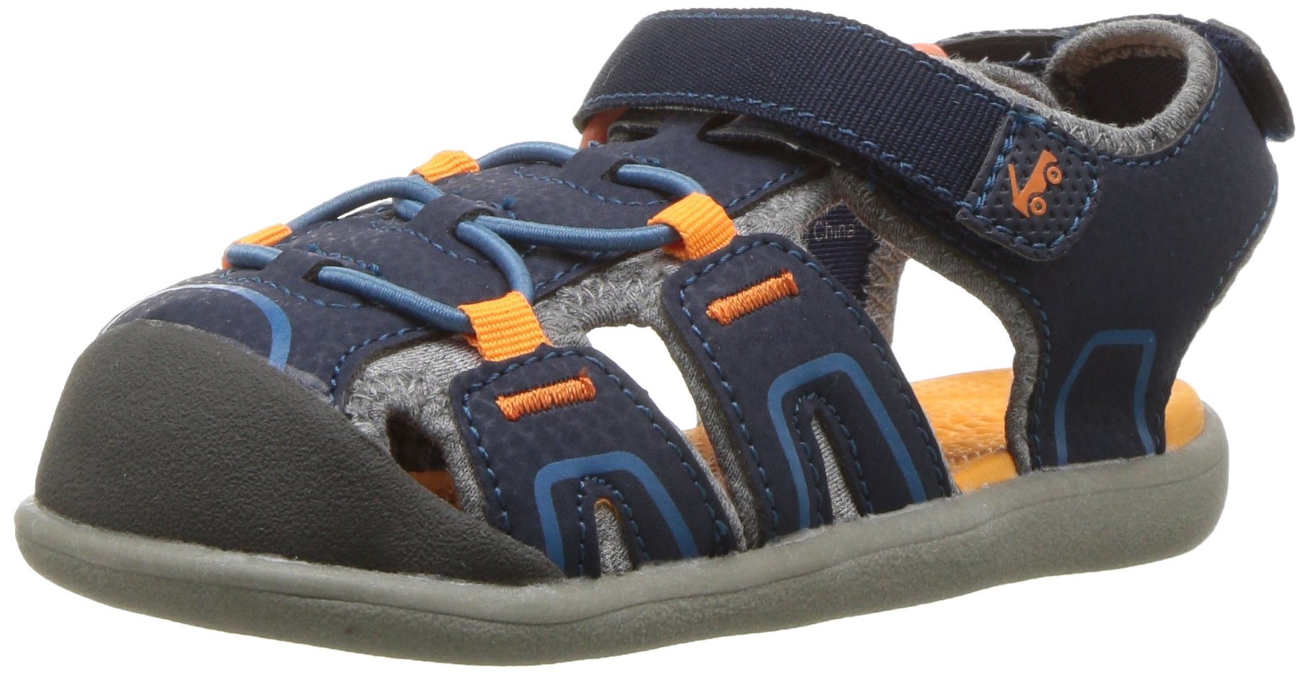 See Kai Run Boys' Lincoln III Sport Sandal, Blue, 5 M US Toddler