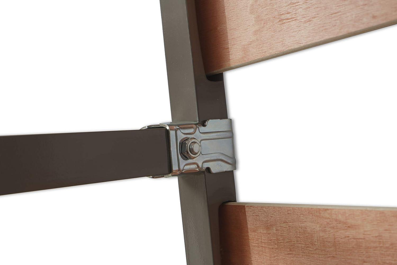 MUEBLIX.COM | Somier Eco para Cama 90 x 190 cm | Somier con 4 Patas | Láminas Madera de Chopo de 9 cm y Estructura de Tubos de Acero | Útil para Camas ...