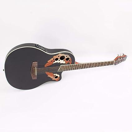 Guitarra Western ROUNDBACK con pastillas piezoeléctricas, negra - Guitarra country / Guitarra para avanzados -