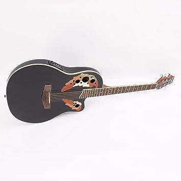 Guitarra Western ROUNDBACK con pastillas piezoeléctricas, negra - Guitarra country / Guitarra para avanzados - klangbeisser: Amazon.es: Hogar
