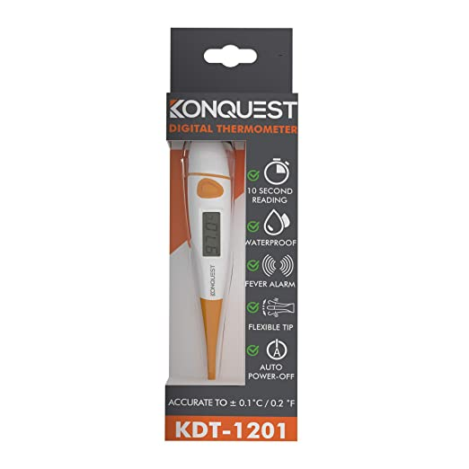 Amazon.com: Konquest KDT-1201 Best Digital Medical Thermometer, Highly Accurate and Fast, Easy to Use, 10 Second Reading. Detect Fever Quickly - Oral Armpit ...