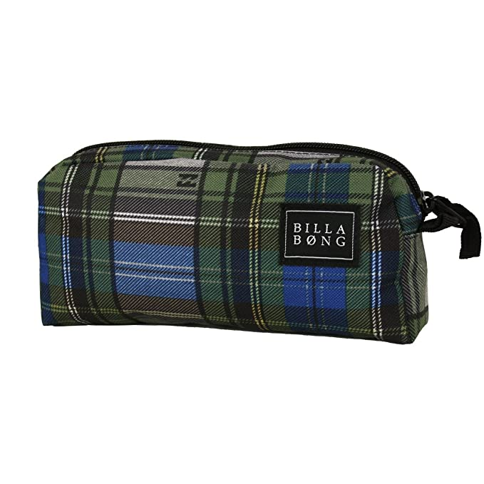 Billabong estuche Repeat Pencil Case Plaid estuche bolsa ...