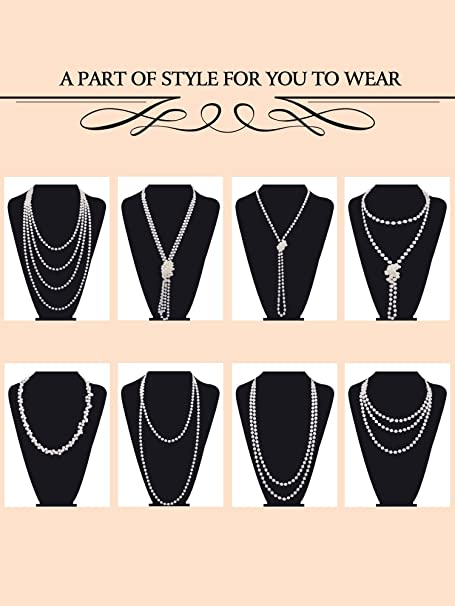 coco Chanel style faux pearl necklace
