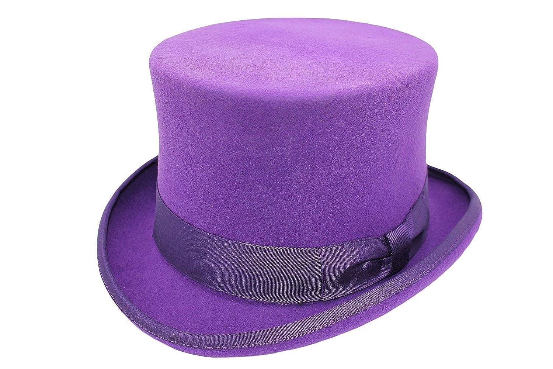 UNISEX LADIES/GENTS EVENT 100% WOOL HAND MADE PURPLE TOP FELT HAT!!!