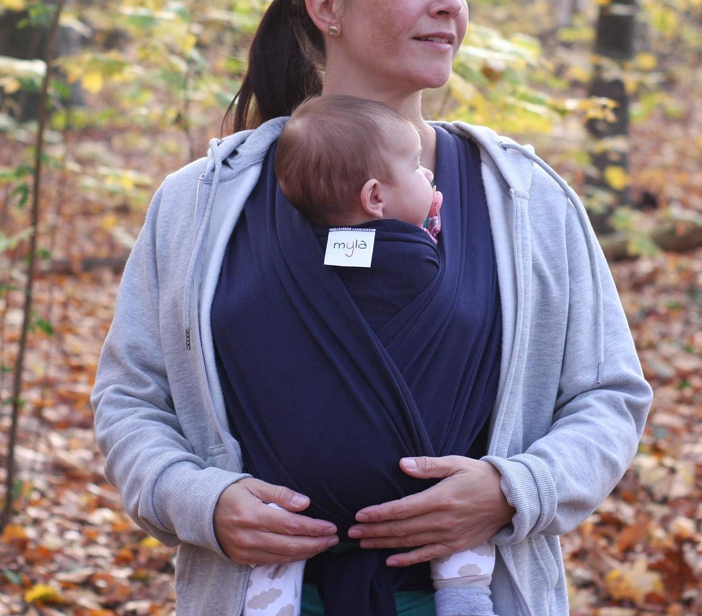 12kg 520cmx54cm passend f/ür jede Tr/ägergr/ö/ße hoher Tragekomfort Tragetuch bis max weich /& anschmiegsam einfach zu binden myla elastisches Babytragetuch