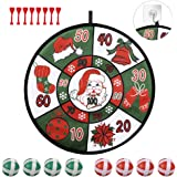 RenbangUS Christmas Dart Board, Children's Dart Board Game, Christmas Snowman Dart Board with 8 Sticky Balls, 8 Dart…