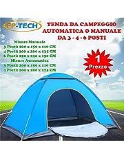 FP-TECH Tenda da Campeggio 3 4 6 POSTI Persone Canadese Automatica Igloo Gazebo Sacca