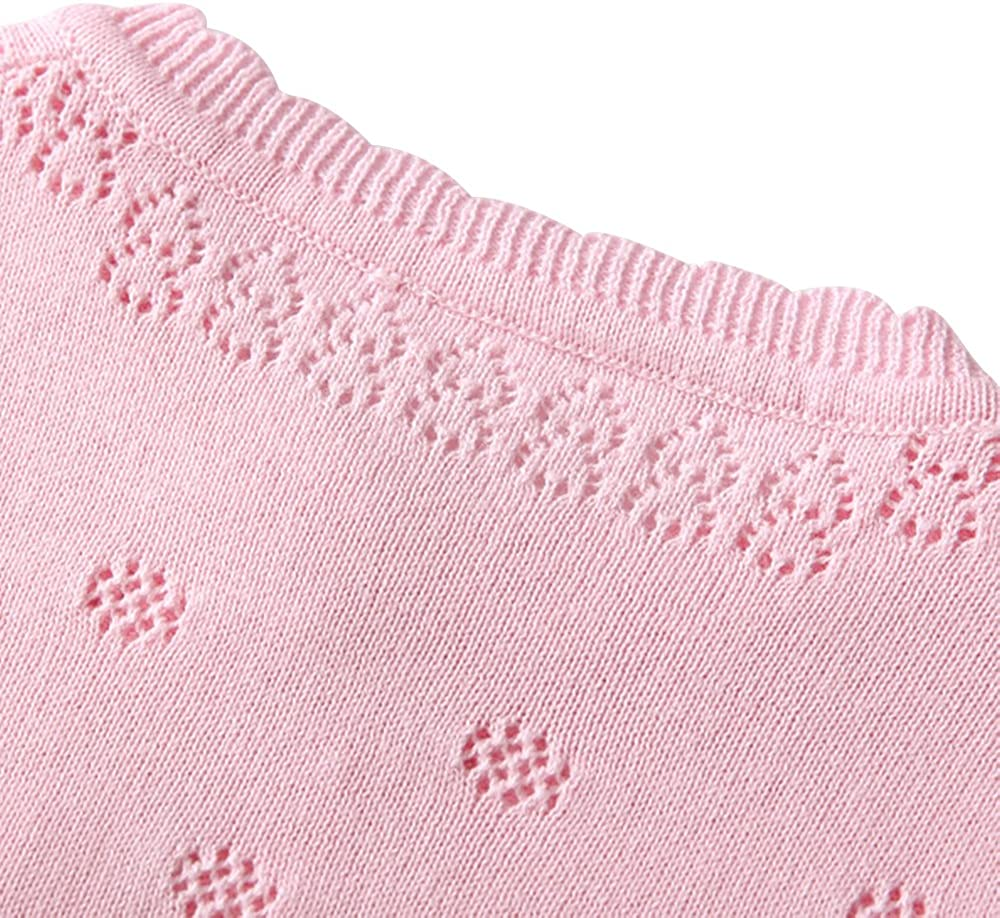 XIAOHAWANG Knitted Baby Girls Cardigan Toddler Button up Sweaters