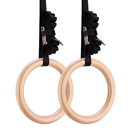 73 opinioni per Yimidear multifunzione alta qualita anelli ginnastica in legno con fibbie