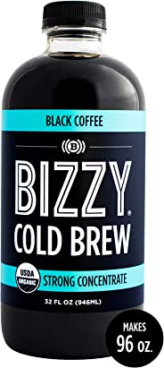 Bizzy Cold Brew Coffee Concentrate I USDA Organic (32 oz Black, 1 Pack)