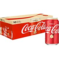 Coca-Cola Vanilla Soft Drink Multipack Cans, 10 x 375 ml