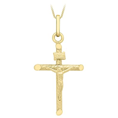 Carissima Gold 9ct Yellow Gold Cross Pendant of 2.7cm/1 InuY8dFkY