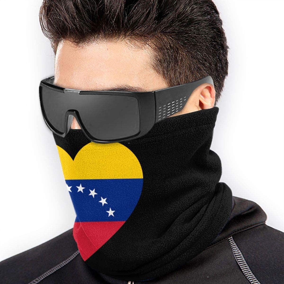XXWKer Sciarpe Collo Scaldacollo Love Venezuela Flag Neck Warmer Gaiter Fleece Ski Face Mask Cover for Winter