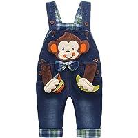 Baby Mädchen Denim Overall Jeans Hose mit Hosenträger Kinder Baumwolle Latzhose Kaninchen Butterfly