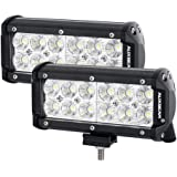 Auxbeam LED Light Bar 7 Inch 36W CREE Driving Lights Flood led off road lights waterproof for Jeep Off-road SUV Truck Car ATVs Boats (2 PCS)