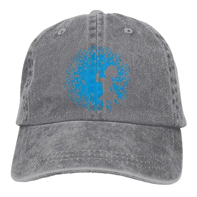 Arsmt Flowers Dandelions Girl Denim Hat Adjustable Men s Washed Baseball Hat 1f7178de836