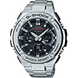 Casio Men's G SHOCK Quartz Watch with Stainless-Steel Strap, Silver, 25.85 (Model: GST-S110D-1ACR