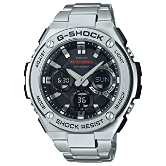 1e3b5776a24 Casio Men s G Shock Quartz Watch with Stainless-Steel Strap