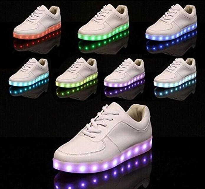 Joney Zapatillas led 7 colores deportivas carrefour para niños mujer hombre Blanco 35: Amazon.es: Zapatos y complementos