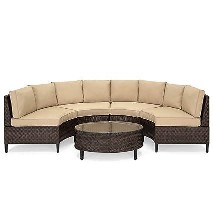 Amazon.com: Best Choice Products 5-Piece Modern Outdoor Patio Semi ...