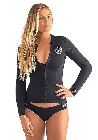 RIP CURL Ladies Dawn Patrol 1.5mm Long Sleeve Neo Jacket Black WVE4BW 5587451aa
