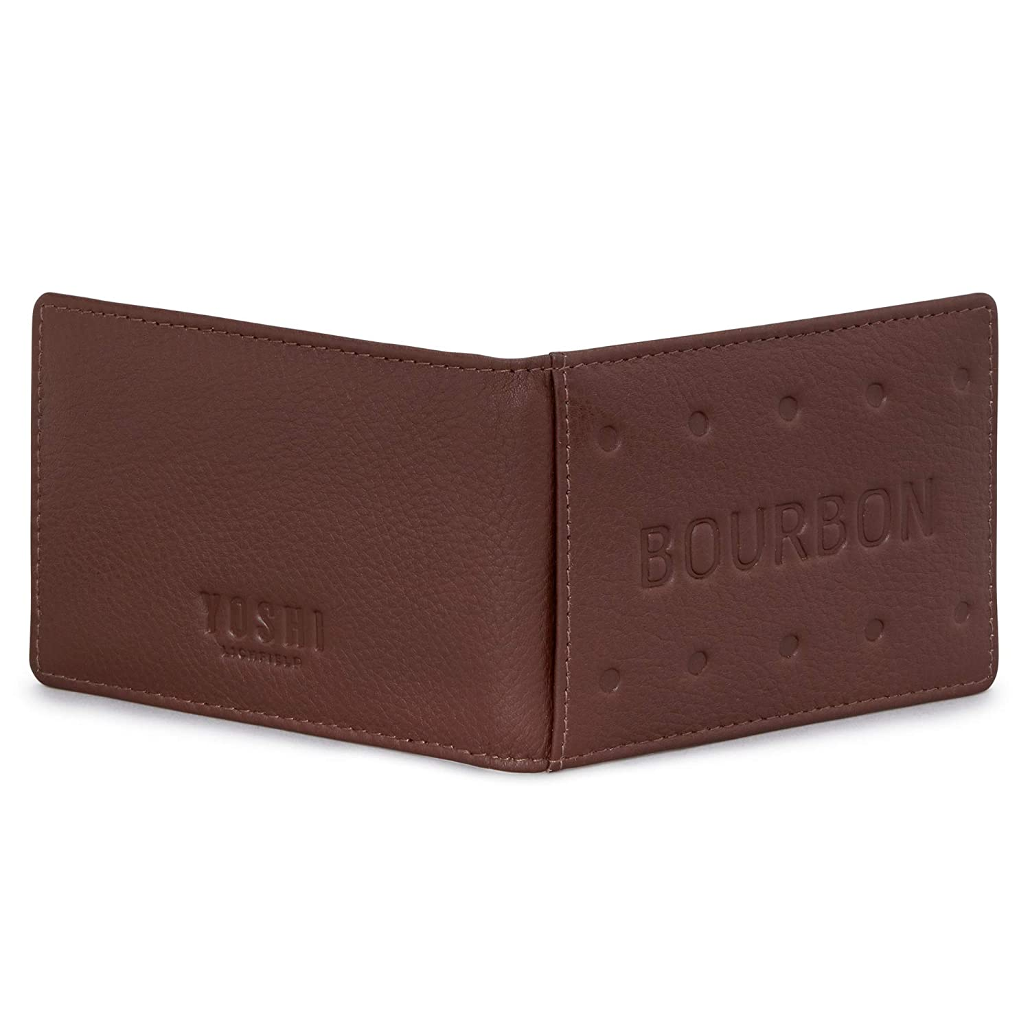 Bourbon Biscuit Leather Travel Pass Holder by Yoshi