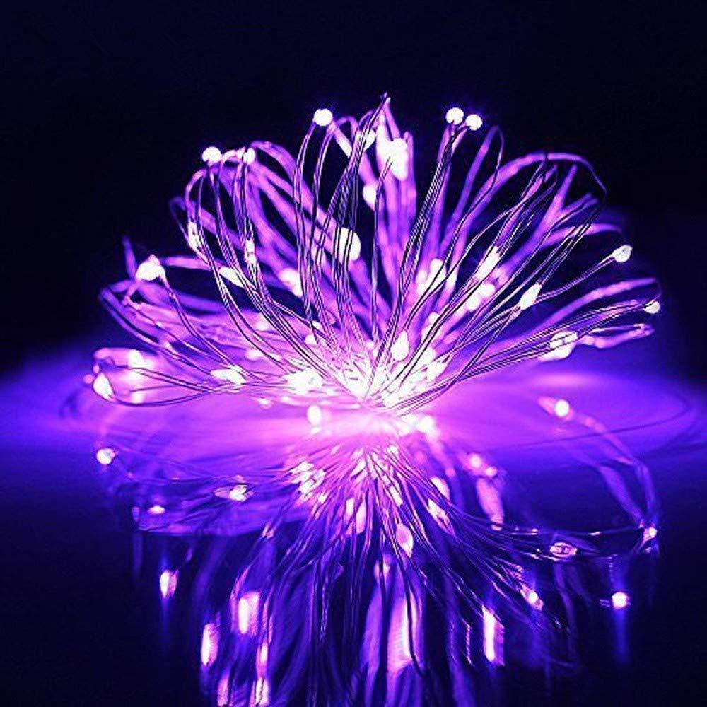 Theshy 4M 40 LED 電池式 ミニ LED 銅線 ストリング フェアリーライト アウトドア ハロウィン クリスマスデコレーション パープル Theshy6541 B07JJFMQD8 パープル