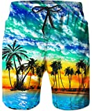 TUONROADMen's3DPrintedSwimTrunksBeach Shorts Men Quick DryforOutdoorSurfingHolidayS-XL