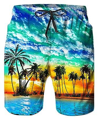 Swimming Trunks for Men Quick Dry Mens Boys Beach Board Shorts 3D Print Graphic Swim Trunks