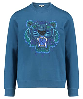 62b0233d Kenzo Limited Edition Icon Tiger 'Holiday Capsule' Duck Blue Sweatshirt ...