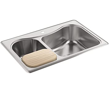 GroBartig Kohler K 3361u20131 Na STACCATO Large/Medium Self Rimming Küche