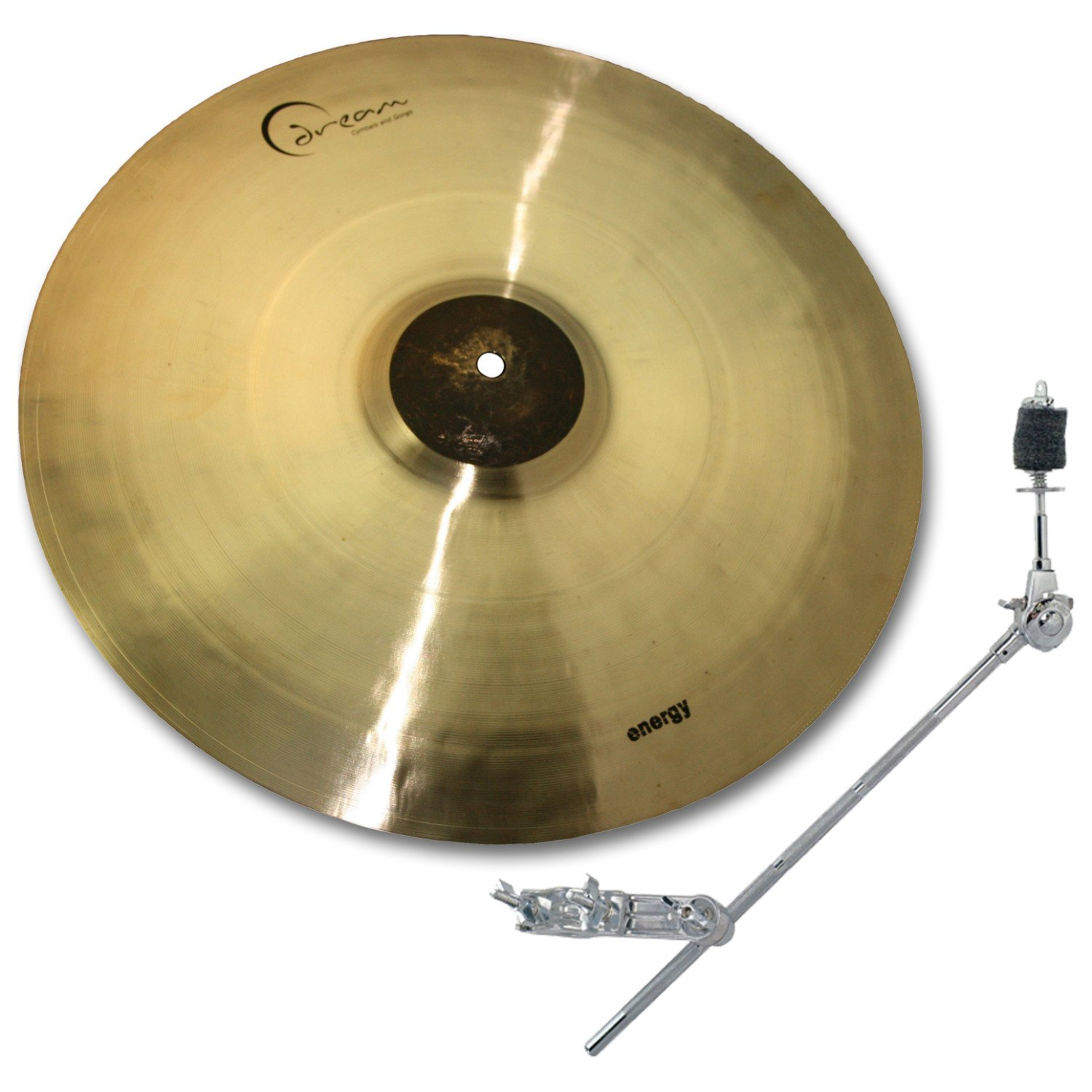 Dream Cymbals ECR18 18'' Energy Series Crash Cymbal w/ Free Boom Arm and Clamp by Dream Cymbals and Gongs