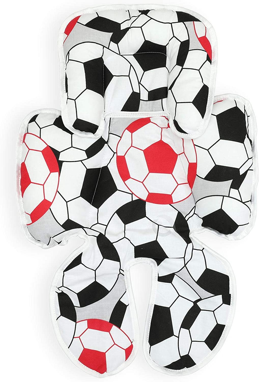 Black /& red Football OLOBABY Total Body Support Infant Snuzzler Reducer Head and Body Support Anti Allergic Cotton