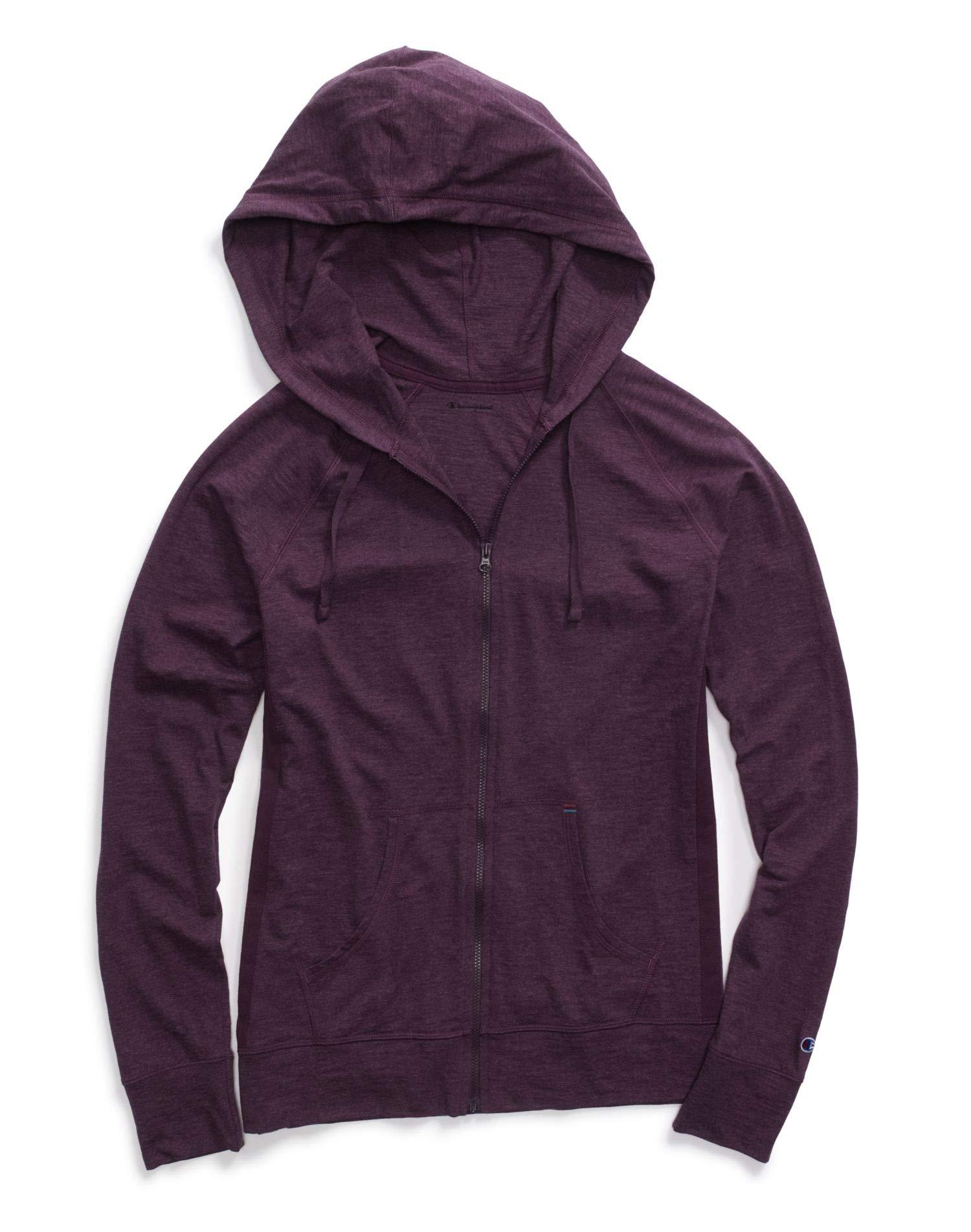 Champion Women's Heathered Jersey Jacket, Dark Berry Purple Heather, XX-Large