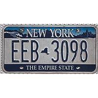 USA Nummernschild NEW YORK ~ US Kennzeichen EMPIRE STATE ~ Blechschild Skyline Motiv