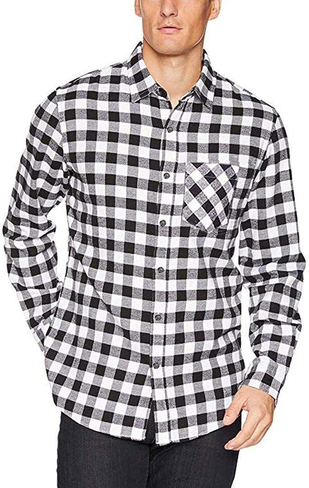 NUTEXROL Camisa Fibra Hombre Ropa de Vestir Lisa, Manga Larga, Camisa Flanera Casual y Informal para Hombre, Negro, S: Amazon.es: Ropa y accesorios