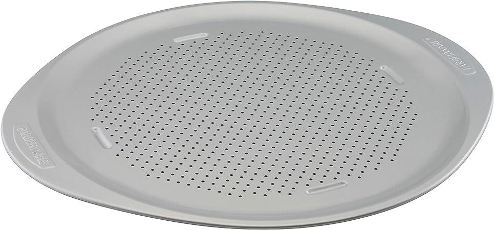Farberware Insulated Nonstick Bakeware 15.5-Inch Round Pizza Pan, Light Gray