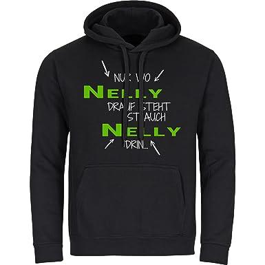T-Shirt Nur wo Nelli drauf steht ist auch Nelli drin schwarz Damen Gr S bis 2XL