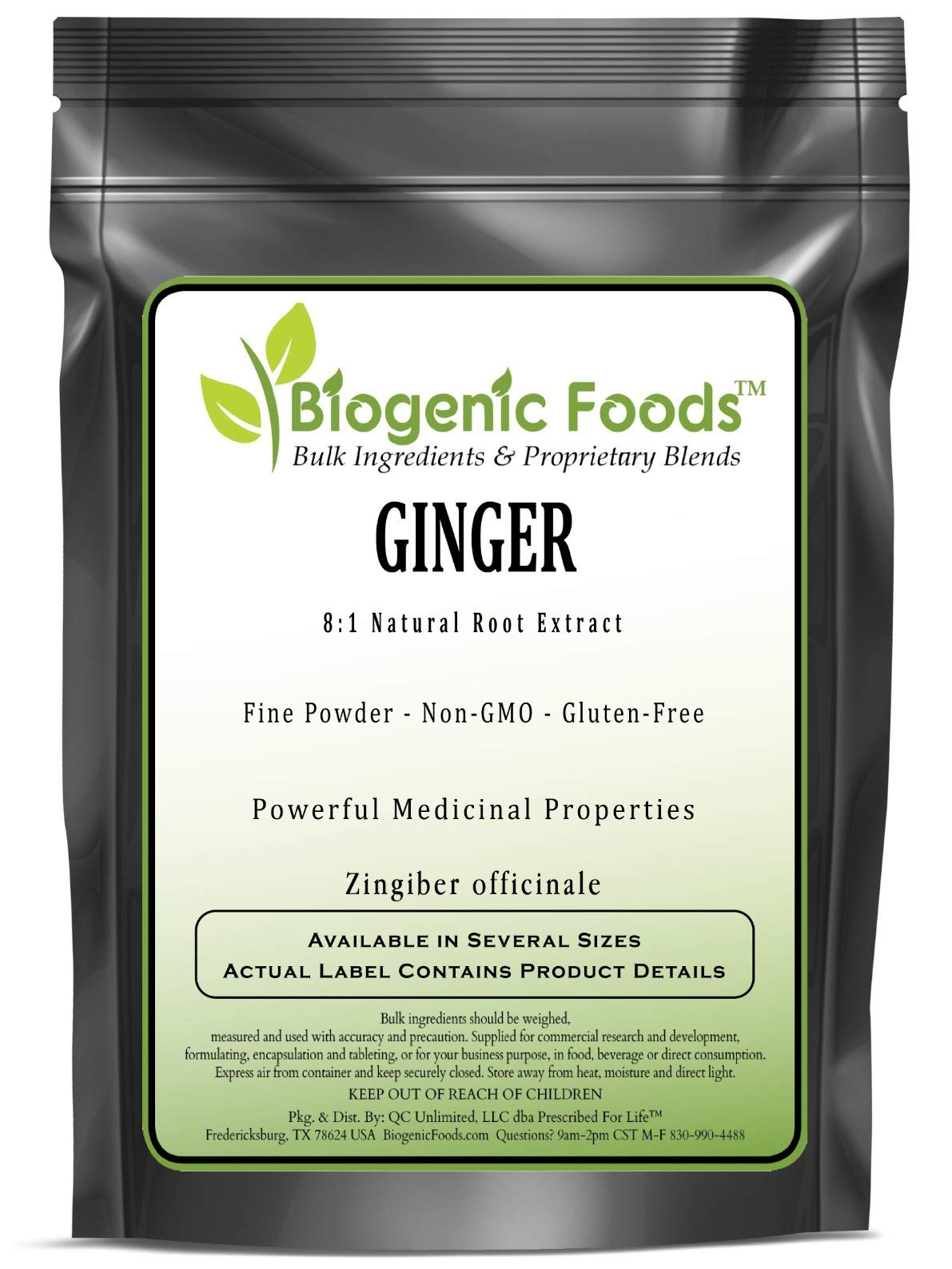 Ginger - 8:1 Natural Root Fine Powder Extract (Zingiber officinale), 10 kg