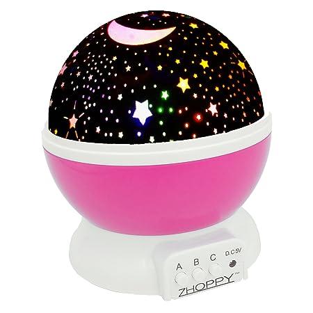 ZHOPPY luz Nocturna para niños, Estrella y Luna de proyector ...