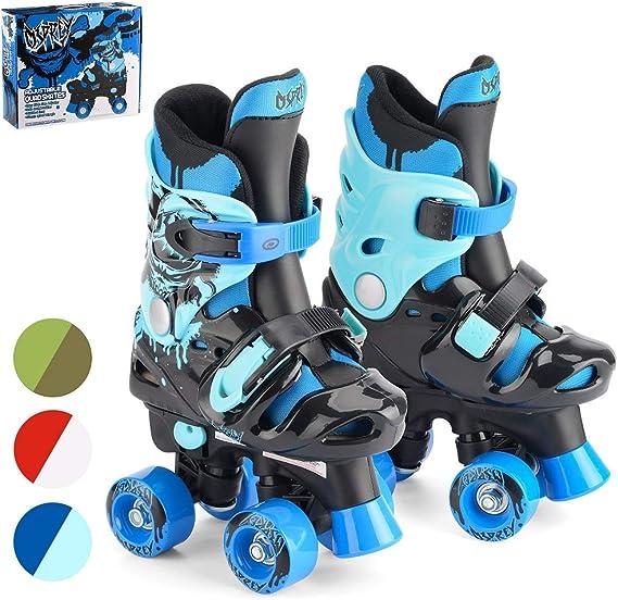 Osprey Kids Roller Skates for Girls Multiple Designs Adjustable Sizing Quad Skates for Beginner Children