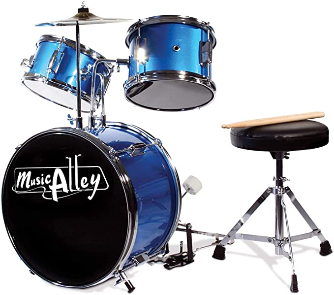 Music Alley adult drum kit but for kids aged from 3 to 8 years of age