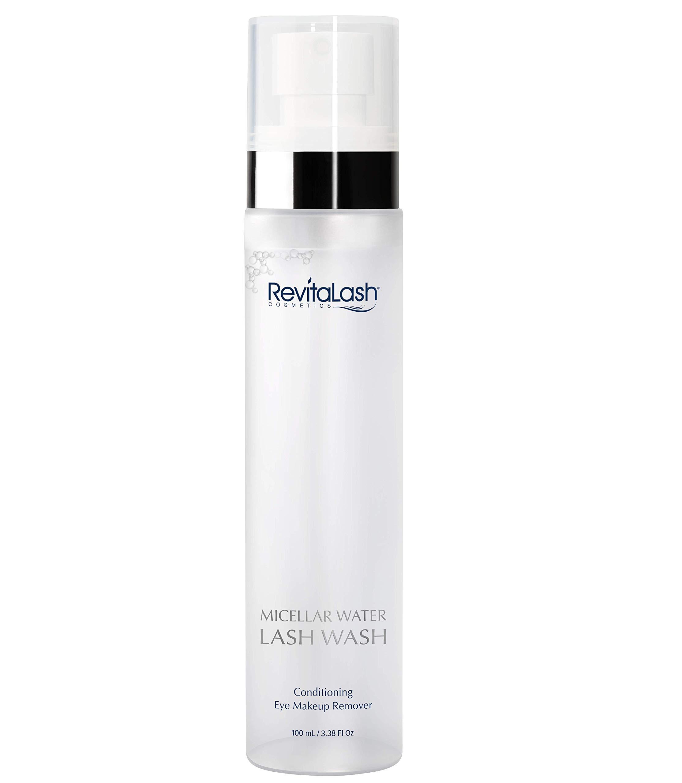 RevitaLash Cosmetics, Micellar Water Lash Wash - Conditioning Eye Makeup Remover, Hypoallergenic & Cruelty Free