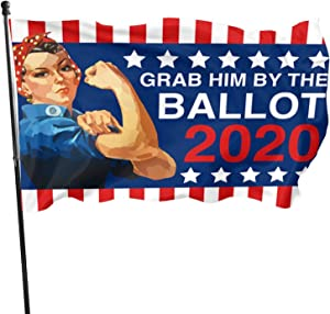 Tgfgfg Cap Grab Him by The Ballot, Biden Harris Flag Home Garden Pageant Flag 3x5ft for Decor Decor Decoration Outdoor